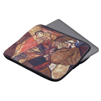 Vintage Expressionism Art, Agony by Egon Schiele Computer Sleeve