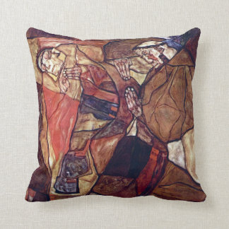 Vintage Expressionism Art, Agony by Egon Schiele Throw Pillow