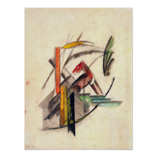 Vintage Expressionism Art, Animal by Franz Marc Posters