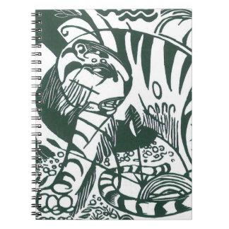 Vintage Expressionism Art, Tiger by Franz Marc Spiral Notebooks