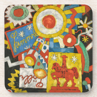 Vintage Expressionism, Himmel by Marsden Hartley Beverage Coaster