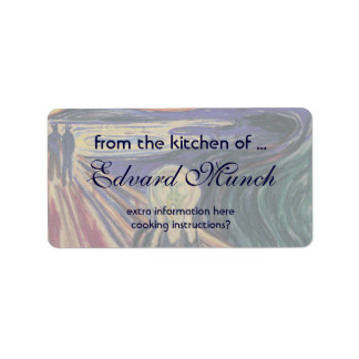Vintage Expressionism, The Scream by Edvard Munch Address Label