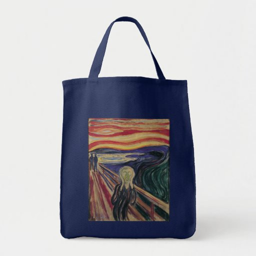 Vintage Expressionism, The Scream by Edvard Munch Grocery Tote Bag