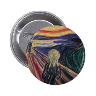 Vintage Expressionism, The Scream by Edvard Munch Button