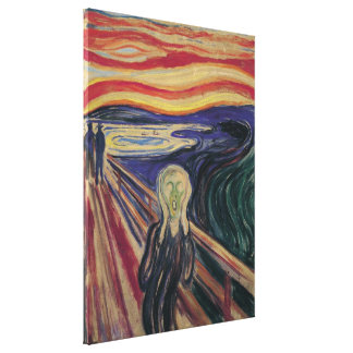 Vintage Expressionism, The Scream by Edvard Munch Canvas Print