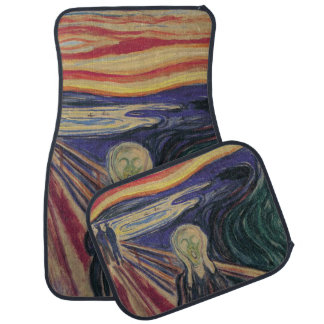 Vintage Expressionism, The Scream by Edvard Munch Car Floor Mat
