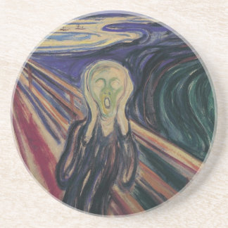 Vintage Expressionism, The Scream by Edvard Munch Drink Coaster
