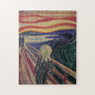 Vintage Expressionism, The Scream by Edvard Munch Jigsaw Puzzle