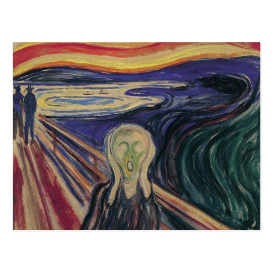 Vintage Expressionism, The Scream by Edvard Munch Postcard