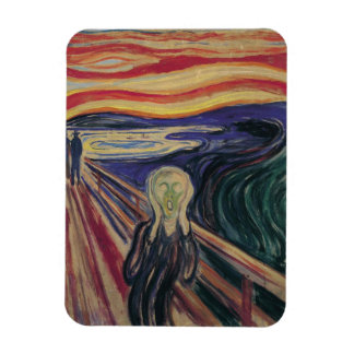 Vintage Expressionism, The Scream by Edvard Munch Rectangular Photo Magnet