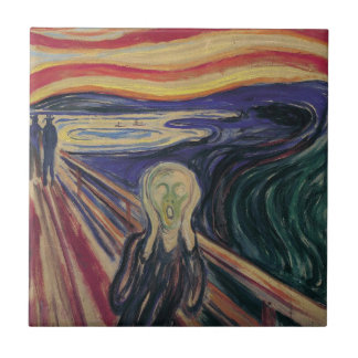 Vintage Expressionism, The Scream by Edvard Munch Tile