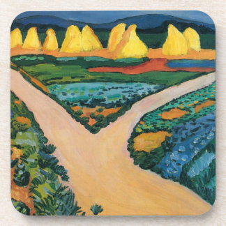 Vintage Expressionism, Vegetable Fields by Macke Coaster