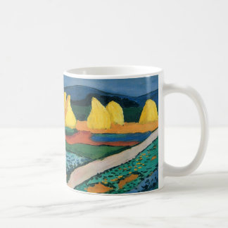 Vintage Expressionism, Vegetable Fields by Macke Coffee Mug
