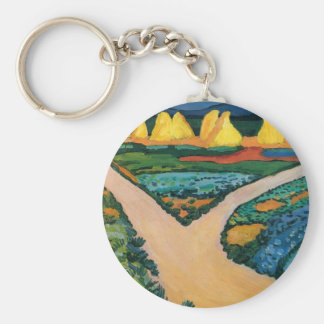 Vintage Expressionism, Vegetable Fields by Macke Keychain