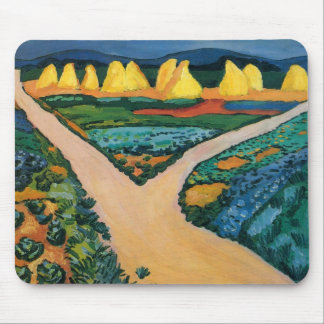 Vintage Expressionism, Vegetable Fields by Macke Mouse Pad