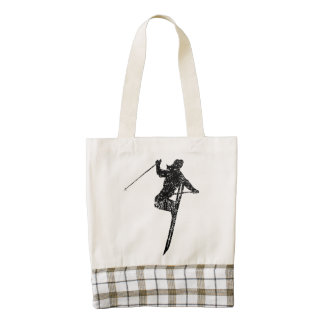 Vintage Extreme Skier Zazzle HEART Tote Bag