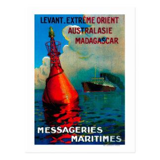 Vintage extremo PosterEurope de Levant Oriente Postal