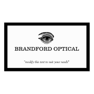 Vintage Eye Ball Ophthalmologist Optometry Doctor Business Card