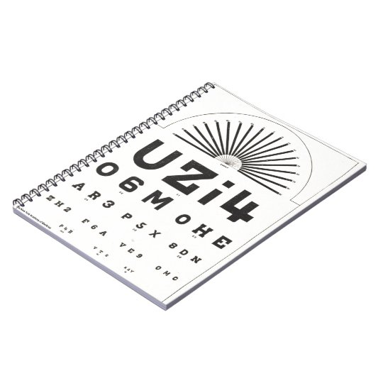 Vintage Eye Chart Notebook