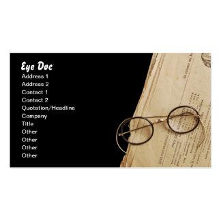Vintage Eye Doctor Specs & Glasses Business Cards
