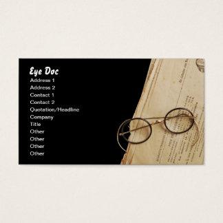 Vintage Eye Doctor Specs & Glasses Business Card