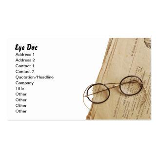 Vintage Eye Doctor Specs & Glasses Business Card Templates