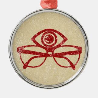 Vintage Eye & Eyeglasses Metal Ornament