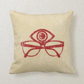 Vintage Eye & Eyeglasses Pillow