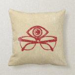 Vintage Eye & Eyeglasses Throw Pillow