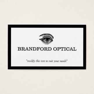 Vintage Eye Ophthalmologist Optometry Doctor Business Card