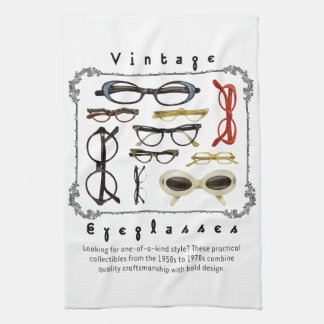 Vintage Eyeglasses 01 Hand Towels