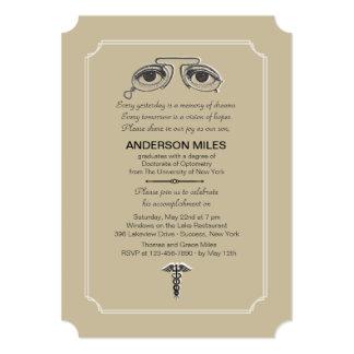 """Vintage Eyeglasses Graduation Invitation 5"""" X 7"""" Invitation Card"""