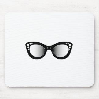 Vintage eyewear for ladies mouse pad