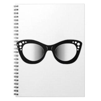 Vintage eyewear for ladies spiral notebook