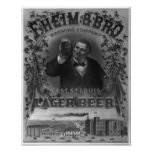 Vintage F Heim and Brothers Brewing Company Print