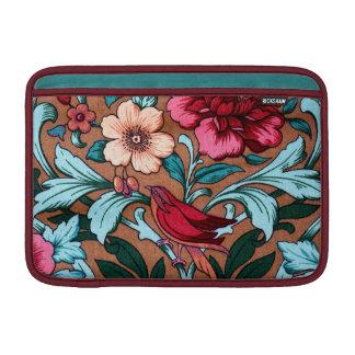 Vintage Fabric Bird Design MacBook Sleeve