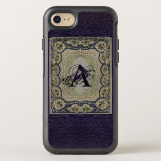 Vintage Fabric Book Design Monogrammed OtterBox Symmetry iPhone 7 Case