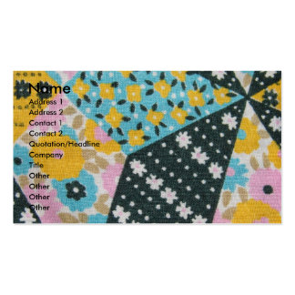 Vintage Fabric Business Card Template