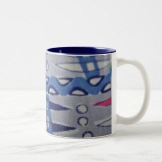 Vintage Fabric Graphic Design Mug