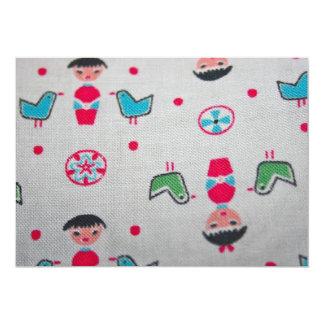 Vintage Fabric Invitation