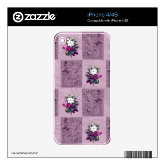 Vintage fabric skin for iPhone 4