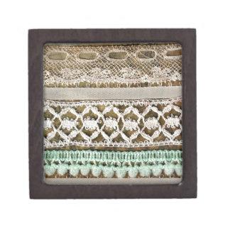 Vintage Fabric Trim Premium Jewelry Boxes