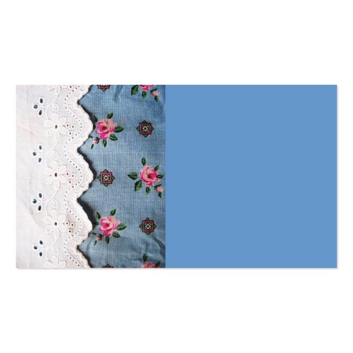 vintage fabrics business card