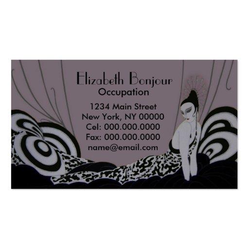 Vintage fabuloso de la tarjeta de visita del ~ de