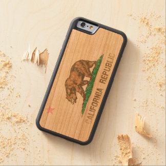 Vintage Fade California Republic Flag Carved Cherry iPhone 6 Bumper Case