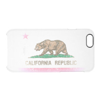Vintage Fade California Republic Flag Uncommon Clearly™ Deflector iPhone 6 Case