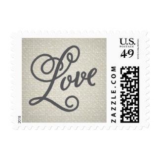 Vintage Fade Cream Love Stamp