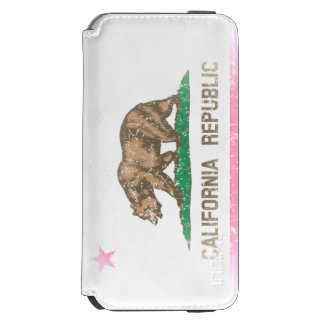 Vintage Fade State Flag of California Republic Incipio Watson™ iPhone 6 Wallet Case