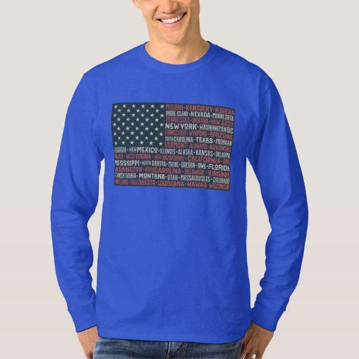 Teenagers Teen Girl Texas New Mexico Flag Printed Long Sleeve 100/% Cotton T Shirts