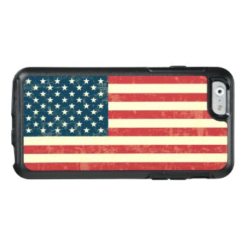 Vintage Faded American Flag Usa Otterbox Iphone 6/6s Case by JerryLambert at Zazzle
